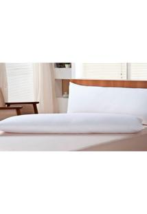 Travesseiro Body Pillow Pena De Ganso Branco 50X150