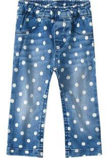 Calça Jeans Azul Skinny Cintura Média