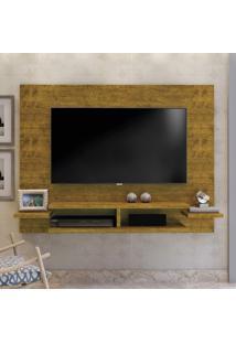 Painel Para Tv Até 55 Polegadas Com Prateleiras Vitória Mavaular Mel