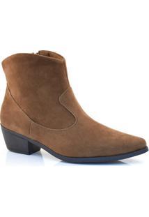 Ankle Boots De Salto Baixo Lacolly