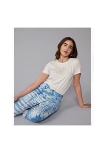 Amaro Feminino T-Shirt Calm Momile, Off-White