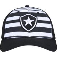 Boné Aba Curva Do Botafogo New Era 940 - Strapback - Adulto - Preto Branco 0ca83d7ae9d