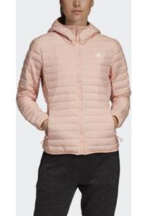 Jaqueta Adidas Capuz Varilite Soft Feminina - Feminino-Rosa