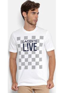Camiseta Lacoste Live Estampada Masculina - Masculino 355821c86e