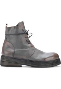 Marsèll Ankle Boot De Couro - Cinza