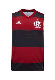 Camiseta Regata Do Flamengo I 2020 Adidas - Masculina - Preto/Vermelho