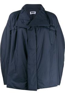 132 5. Issey Miyake Suéter Oversized Gola Alta - Azul
