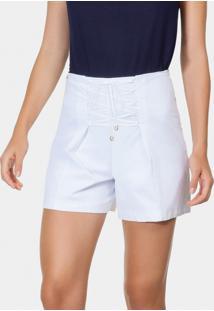Shorts Amarração Tecido Tricoline Branco - Lez A Lez
