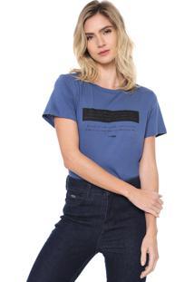 Camiseta Forum Lettering Azul