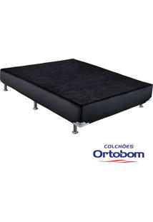 Box Casal - Corino Preto - Ortobom - 138X188X30