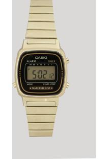 Relógio Digital Casio Feminino - La670Wga1Dfu Dourado - Único