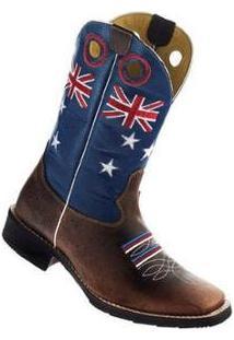 Bota Couro Garrutti Boots Country Solado Borracha Masculina - Masculino