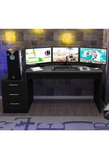 Mesa Para Computador Desk Gamer Drx 6000 Siena Móveis Preto