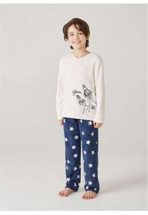 Pijama Infantil Menino Em Fleece Hering Kids Off-W