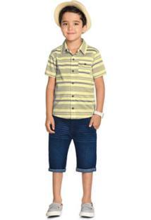 Camisa Infantil Trick Masculina - Masculino-Amarelo