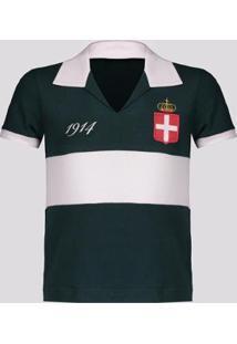Camisa Palmeiras Retrô 1914 Infantil - Masculino-Verde