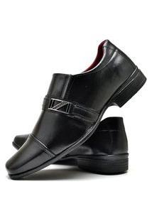 Sapato Social Com E Sem Verniz Fashion Com Relógio Dubuy 820El Preto
