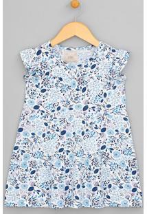 Vestido Infantil Estampa Floral - Tam 1 A 4