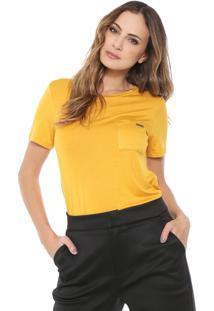 Camiseta Lança Perfume Bolso Amarela
