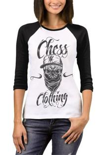 Camiseta Raglan Chess Clothing Feminina - Feminino