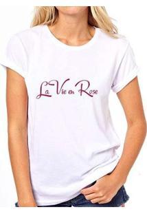 Camiseta Coolest La Vie En Rose Feminina - Feminino-Branco