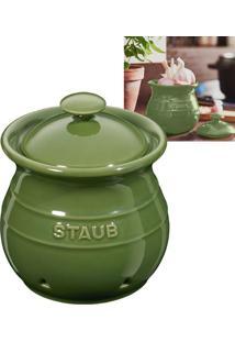 Pote De Cerâmica Para Alho Staub Verde Basil 12Cm - 18397