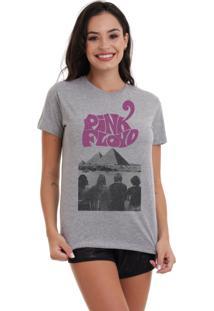 Camiseta Basica Joss Pink Floyd Piramides Cinza Mescla