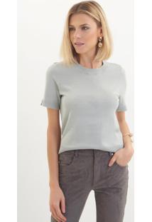 Camiseta Le Lis Blanc Jasmin Iv Tricot Verde Feminina (Pomme, G)