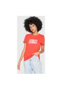 Camiseta Calvin Klein Jeans Re Issue Retângulo Vermelha