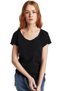 Camiseta Rulfini Store Preta Corte A Fio - Preto - Feminino - Algodã£O - Dafiti