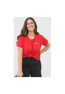 Camiseta Coca-Cola Jeans Aroma Vermelha
