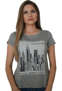 T-Shirt Ny - Cinza - Feminino - Dafiti