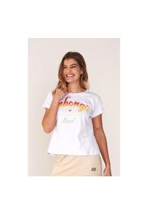 Camiseta Onbongo Feminina Estampada Off White