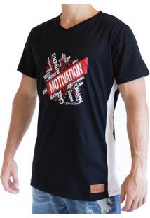 e2ee23aa5 Camiseta Fit Training Brasil Longline Motivation Preta