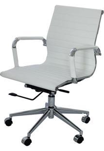 Cadeira Eames Baixa Branca Base Cromada - 15120 - Sun House