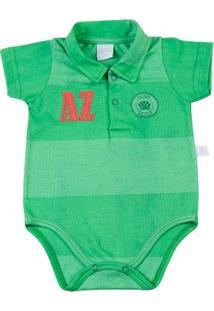 Body Bebê Malha Rapport Spot Plash Scoutcamp - Masculino-Verde