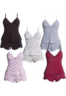 Kit Com 5 Baby Dolls - Polo Match Feminino - Feminino