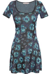 Vestido Tricô Amalia - Azul