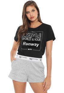 Camiseta My Favorite Thing(S) Runaway Preta