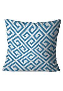 Capa De Almofada Avulsa Decorativas Blue Abstrato 35X35