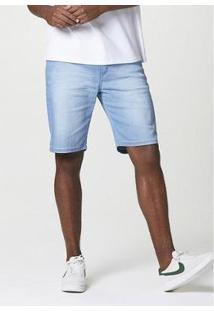 Bermuda Jeans Hering Slim Masculina - Masculino-Azul