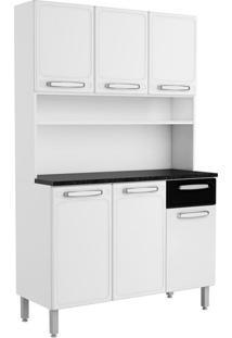 Cozinha Compacta Cecil 6 Pt 1 Gv Branca E Preta