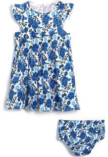 Vestido Tip Top Floral Azul