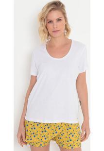 Camiseta Lisa- Branca- Colccicolcci