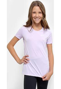 Camiseta Infantil Nike G Np Cl Top - Feminino-Roxo+Branco
