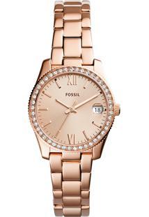 Relógio Analógico Fossil Feminino - Es4318/1Jn Rosê