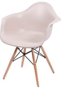 Cadeira Eames Com Braco Base Madeira Fendi Fosco - 35833 Sun House