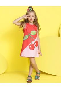 Vestido Infantil Mylu Moletom Fruta - Tricae