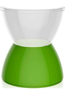 Banco | Banqueta Hydro Policarbonato Cristal E Verde I'M In