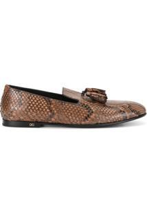 Dolce & Gabbana Slipper De Couro - Marrom